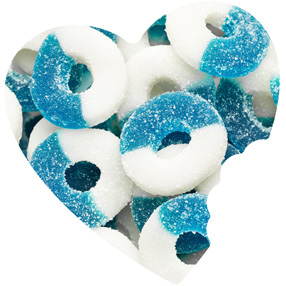 Blue Raspberry Gummy Rings