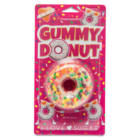 Gummy Donut with Candy Sprinkles