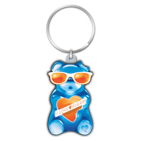 Blue Gummy Bear Key Chain