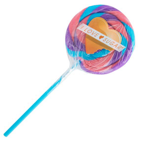 /I Love Sugar Blue Raspberry Lollipop
