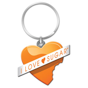 I Love Sugar Heart Logo Key Chain