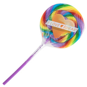 I Love Sugar Rainbow Cherry Lollipop