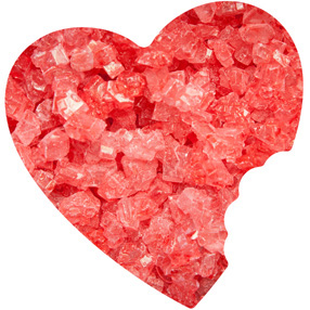 Strawberry Rock Candy
