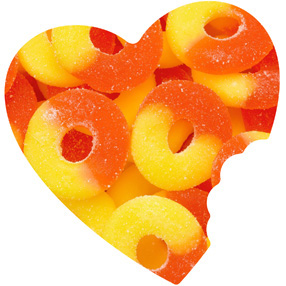 Sugar Free Peach Gummy Rings