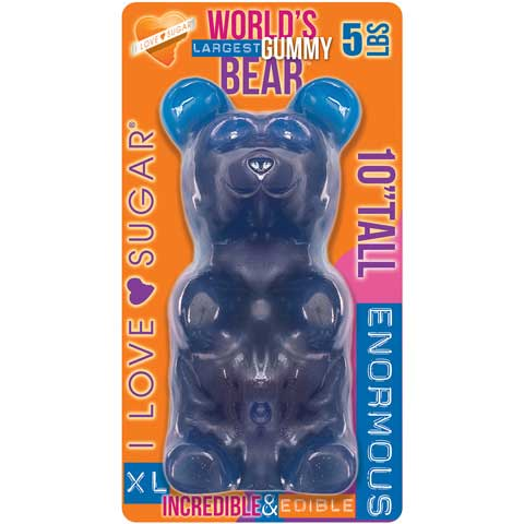 Giant Blue Raspberry Gummy Bear