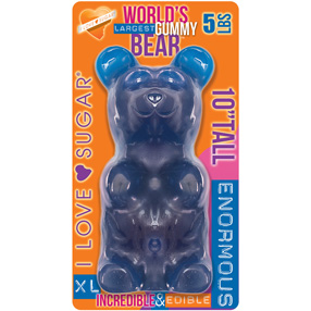 Giant Gummy Bear Blue Raspberry