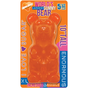 Giant Gummy Bear Orange